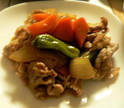 豚肉と野菜の生姜焼き