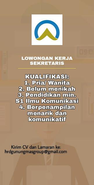 Loker Kupang di Gunung Mas Group Sebagai Sekretaris