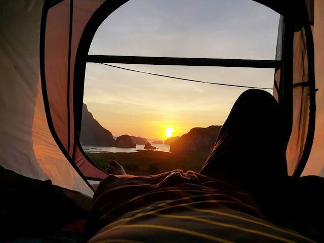 กิจกรรมท่องเที่ยว เสม็ดนางชี  ชมพระอาทิตย์ขึ้น - ตก, ตั้งแคมป์  ชมวิวเกาะต่างๆในอ่าวพังงา, กางเต็นท์ชมวิว, ดูดาวยามค่ำคืน