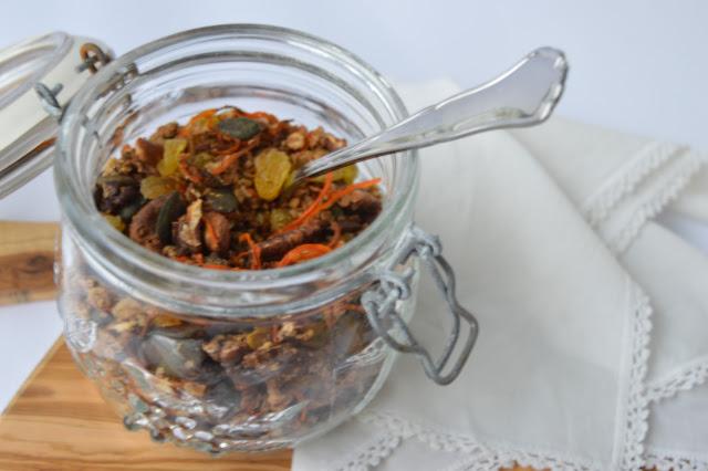 porkkanagranola, aamiainen, välipala