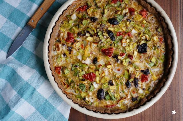 quiche poireaux olives sans lactose