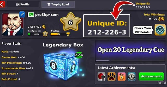 Level 6 Vip Diamond 20 legendary cue 8 ball pool