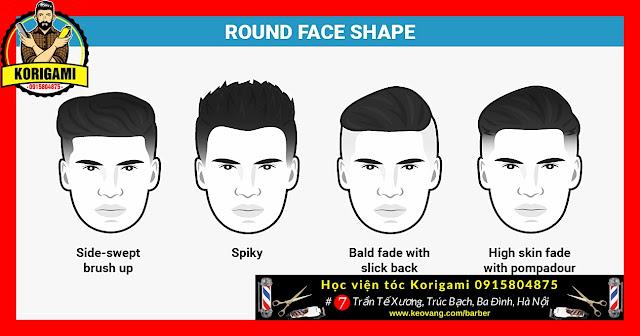 Thợ cắt tóc là tay phù thủy có thể biến mặt tròn thành bớt tròn ...  Đơn giản khi anh ấy cắt cho bạn một số kiểu tóc sau