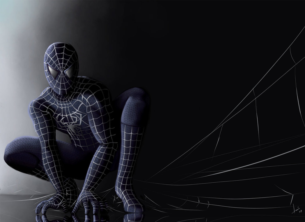 Funny pictures gallery black spiderman wallpaper - Black and white spiderman wallpaper ...