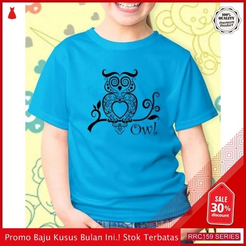 RRC159B38 Baju Fashion Anak Owl Kids Blue Fashion BMGShop