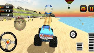 Monster Truck Water Surfing Driving Stunt - Gadi Game