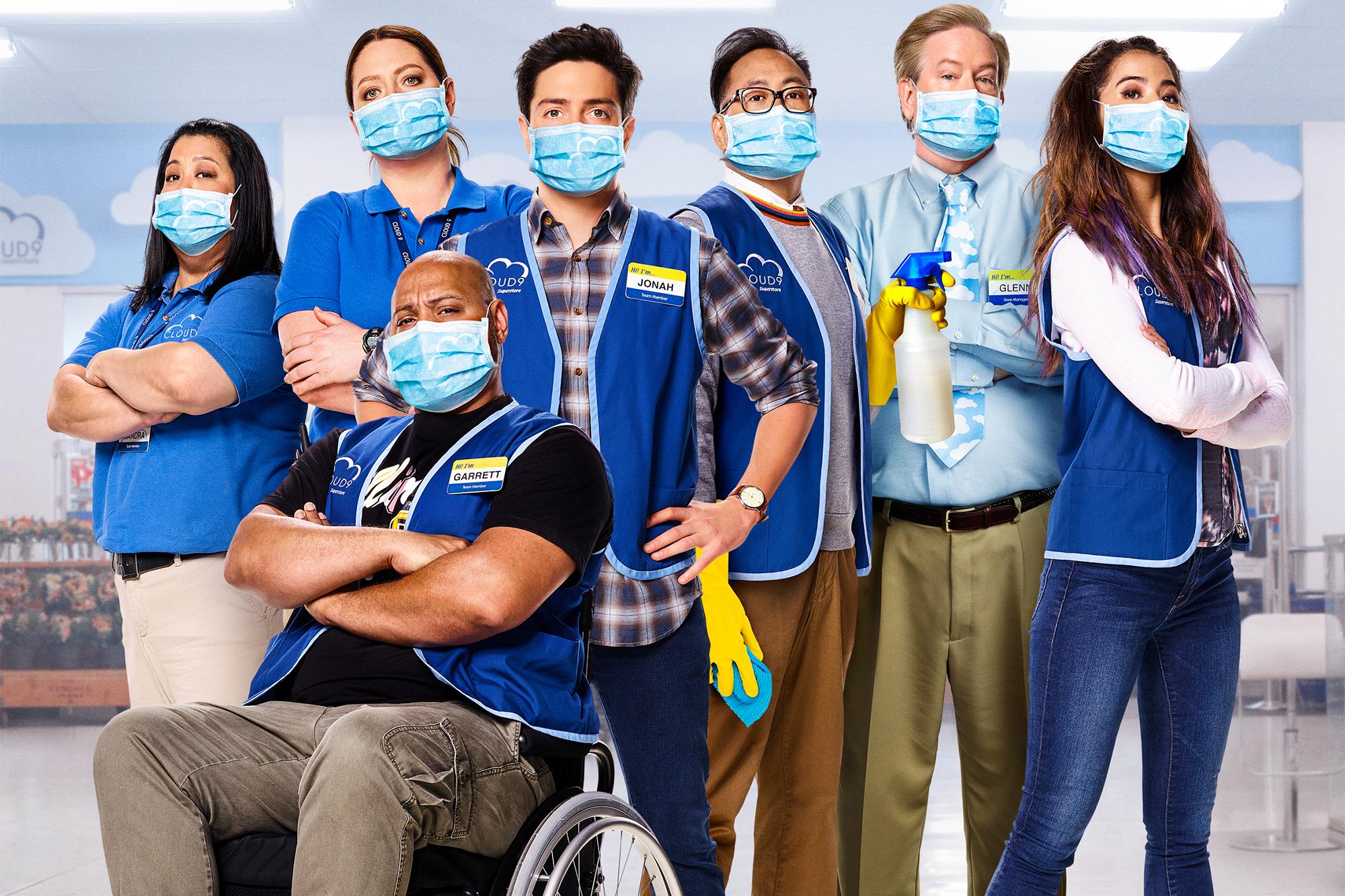 Glenn, Dina, Cheyenne, Mateo, Jonah, Gareth y Sandra son los protagonists de Superstore en la Sexta Temporada