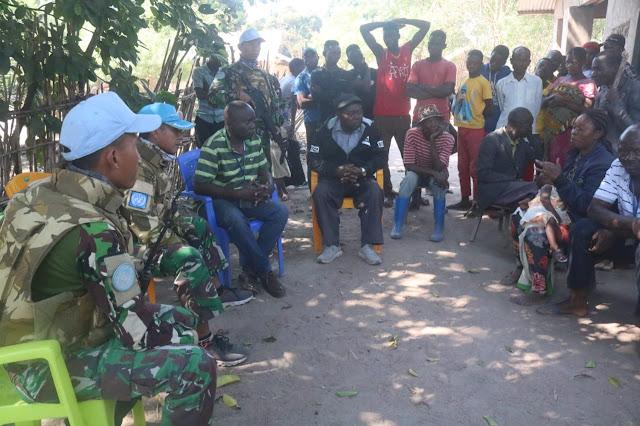 Satgas TNI Konga XXXIX-B RDB Monusco Evakuasi Korban Penghadangan Bandit Bersenjata di  Kongo