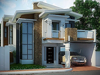 example of a minimalist 2-storey luxury house - a floating interior house