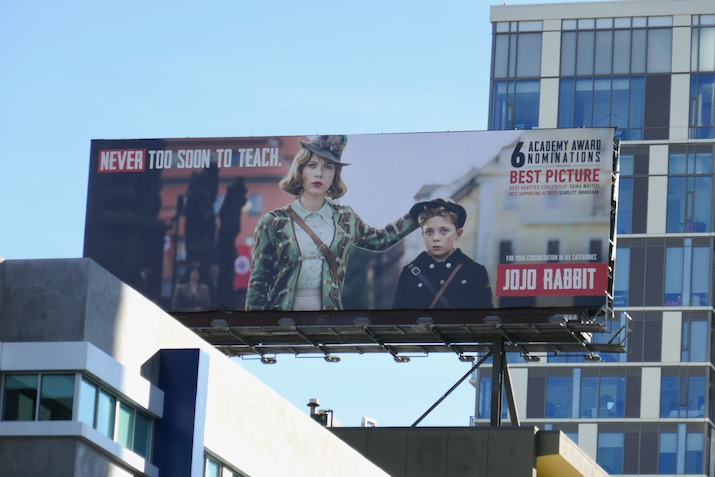 Jojo Rabbit Oscar nominee billboard