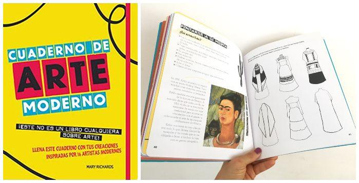 Libro Cuaderno de arte moderno actividades