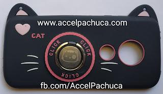 funda para celular de gato negro