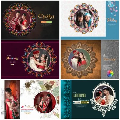Embossing Photo Album Cover Design PSD DM