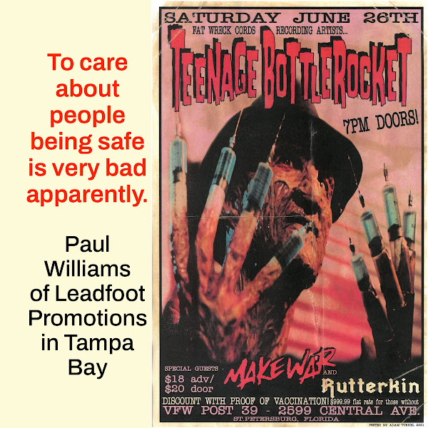 To care about people being safe is very bad apparently. — Paul Williams of Leadfoot Promotions in Tampa Bay