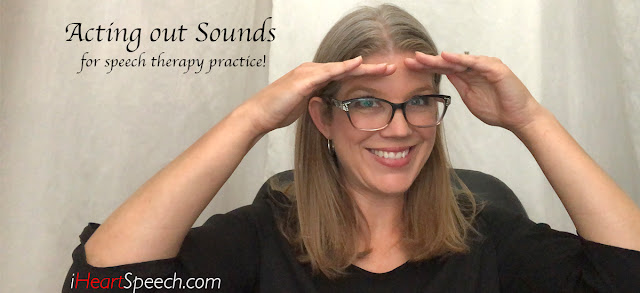 ideas of how to make speech therapy practice fun by playing charades!
