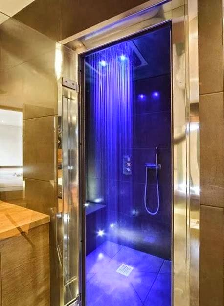 Cool rain showers with LED lights - Interior Design