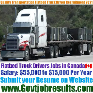 Quality Transportation Truck Driver Recruitment 2021-22