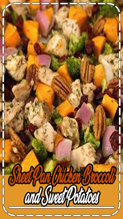 The easiest, healthy dinner recipe! This is great for meal prep too. Loaded with protein rich chicken, vitamin packed sweet potatoes and broccoli, and it's all seasoned with a simple herb and spice blend and cooked together on a single sheet pan. #healthyrecipe #mealprep #chicken #dinnerideas #broccoli #sweetpotatoes #sheetpanrecipe #onepanrecipe