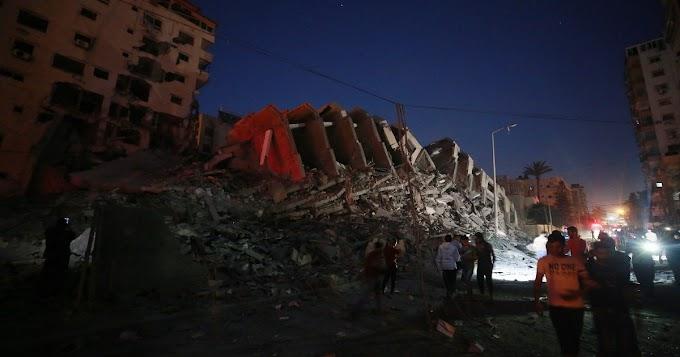 Porig bombázott egy 13 emeletes palesztin házat az izraeli hadsereg