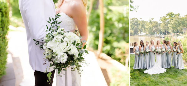 Backyard Summer Wedding in Edgewater, MD photographed by Maryland Wedding Photographer Heather Ryan Photography