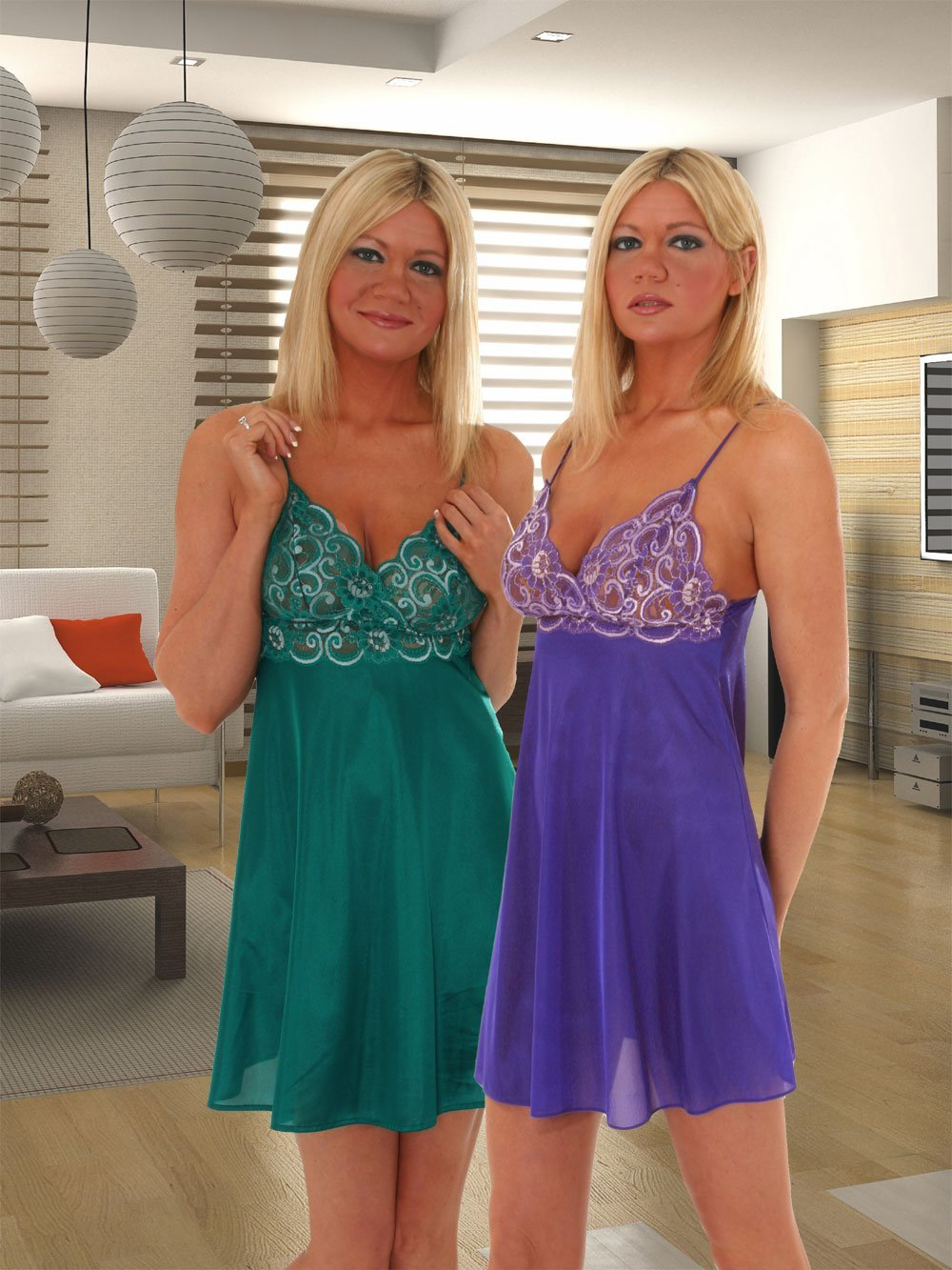 370fa1e38414f Sexy Plus Size Chemise Nightgown Lace Sapphire or Jade Queen