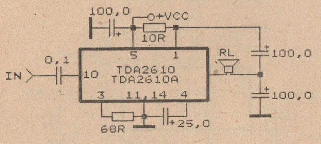 TDA2610 power amplifier circuit