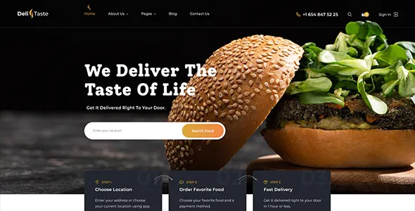 Best Food Delivery Restaurant Directory HTML Template