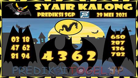 Syair Kalong SGP Sabtu 29 Mei 2021