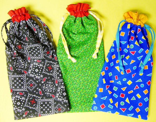 Pencil pouches for Operation Christmas Child shoeboxes.