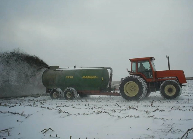 manure application snow