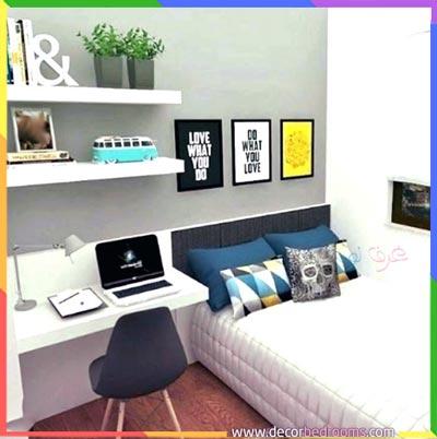 تنظيم غرف النوم الضيقة