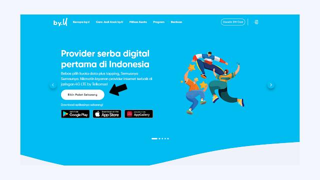 Cara Membeli Kartu / Sim by.U, Provider Anak dari Telkomsel