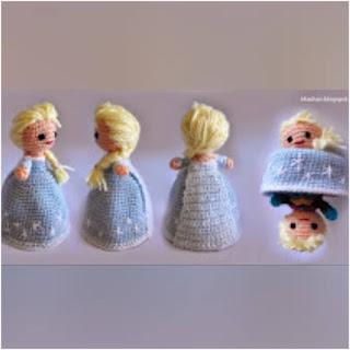 patron amigurumi Elsa de Frozen (transformable) irka