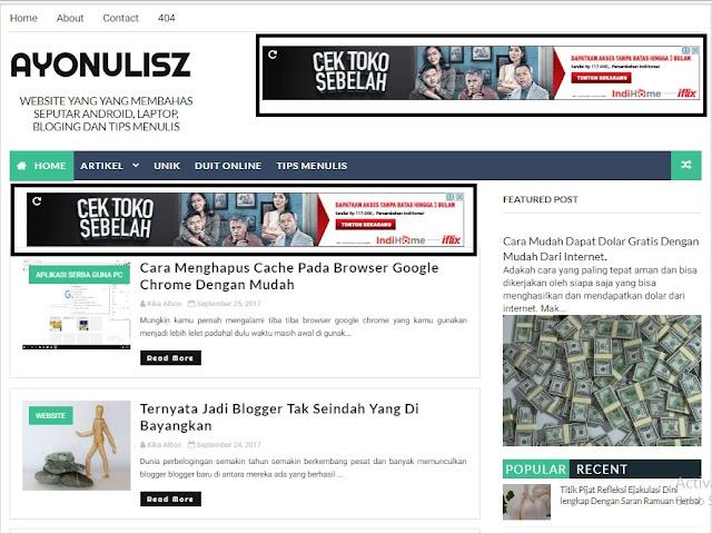 Cara Mudah Untuk Memasang Widged Iklan Adense Pada Blogspot