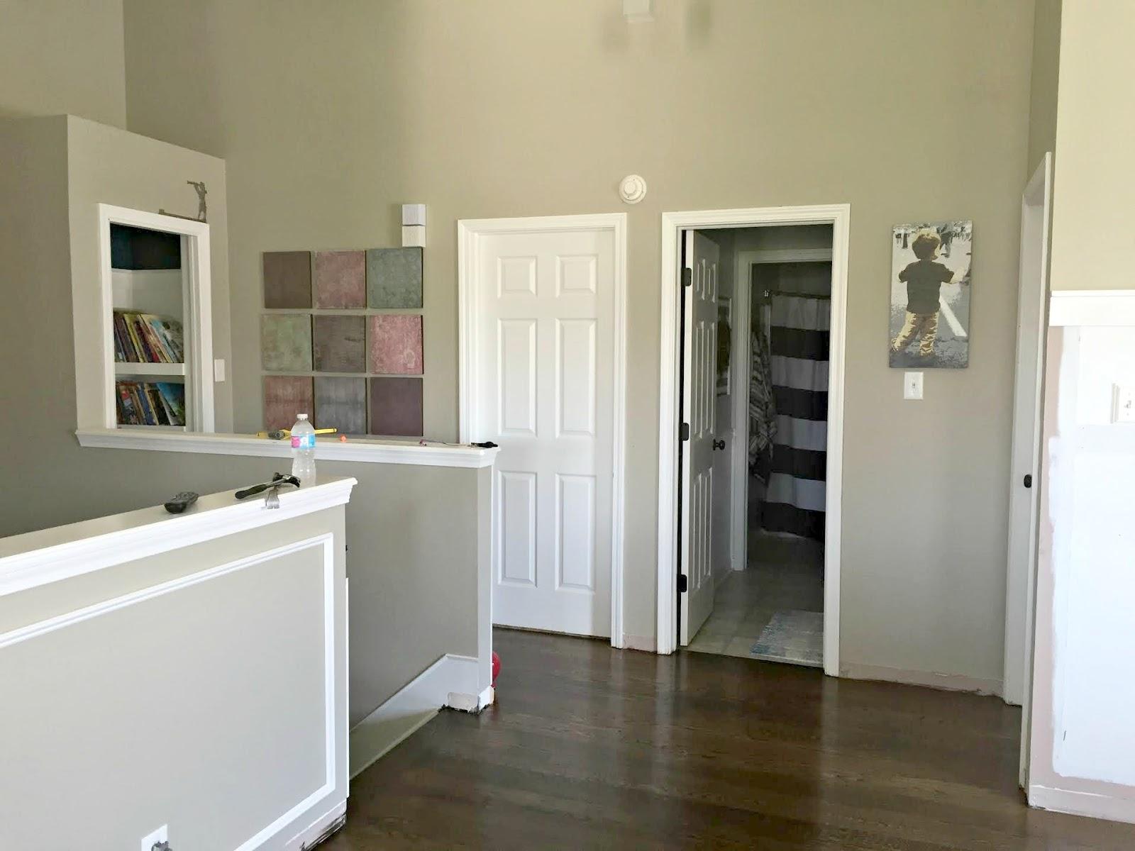 open loft hallway with doors