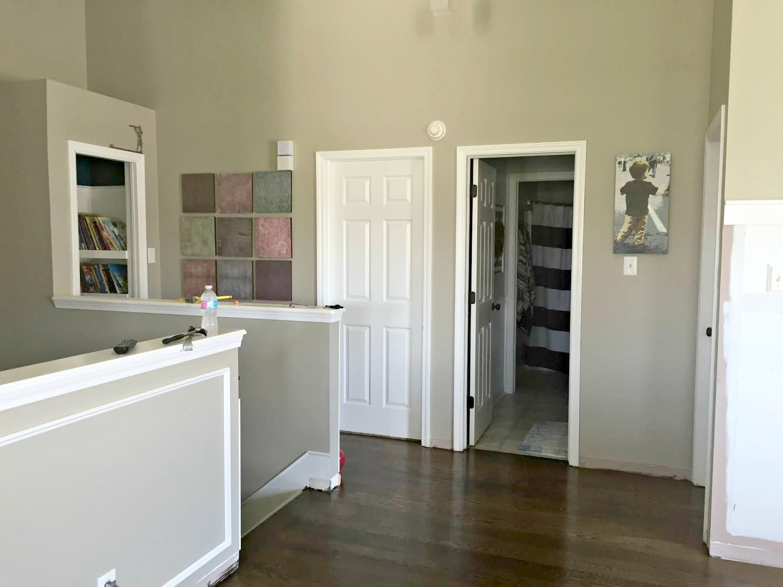 open loft hallway with doors