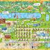 Mapa ilustrado para pousada Sítio Tio Oscar