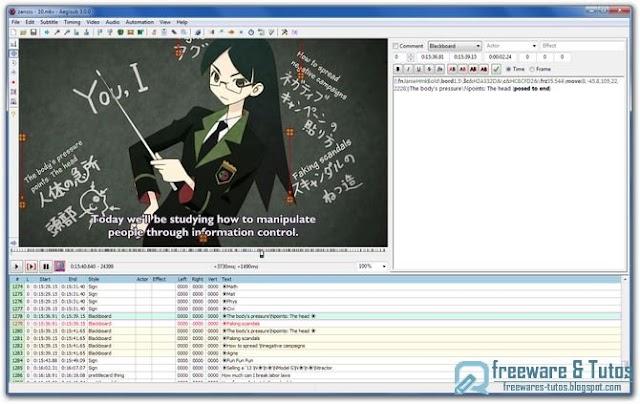 Aegisub : un logiciel pour créer et modifier des sous-titres