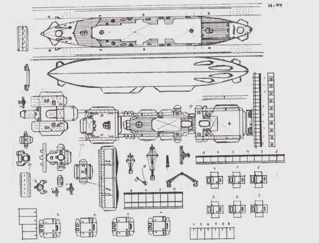 Papermau: Hand Drawn Ww2`S German Battleship H-44 Class Paper