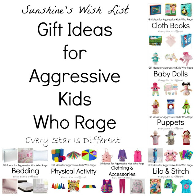Gift ideas for aggressive kids who rage.