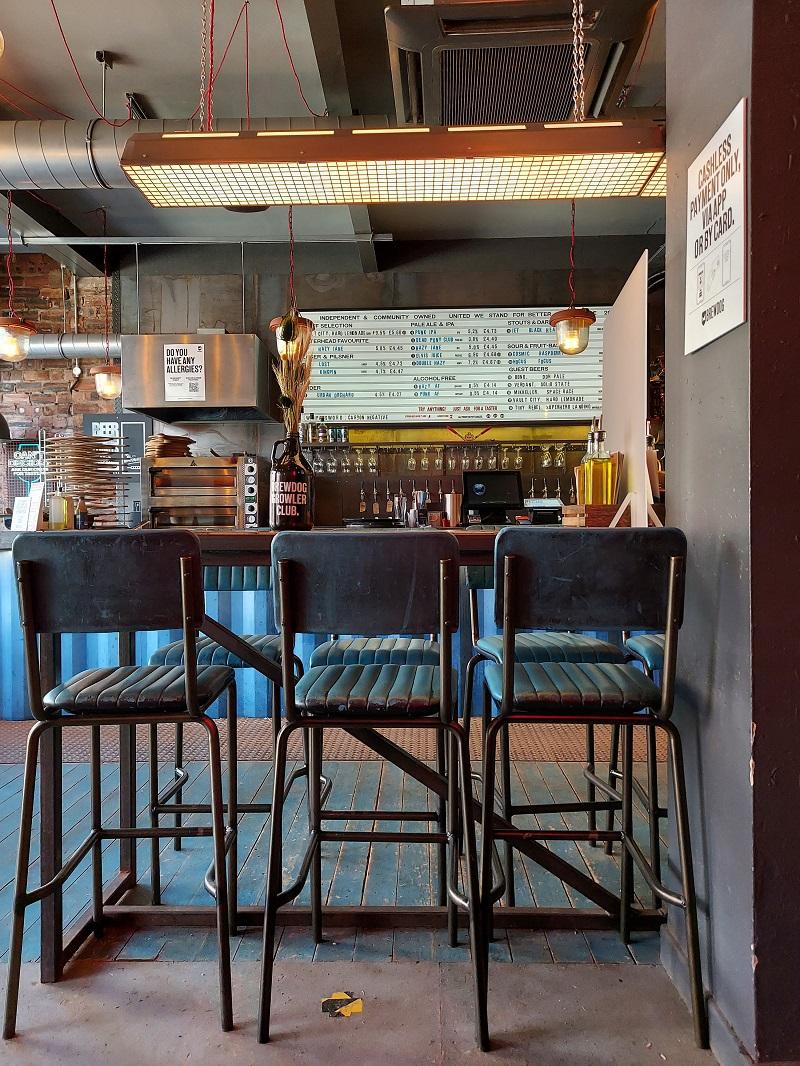 Bar stools in Brewdog Peterhead