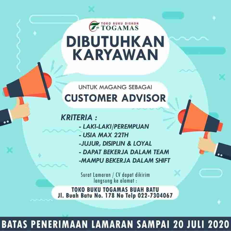 Lowongan Lowongan Kerja Toko Buku Togamas Bandung 2021