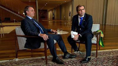 Foto: Carioca com o presidente Jair Bolsonaro/ Divulgação Record TV