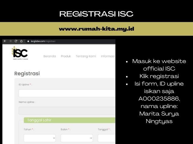 registrasi mitra ISC