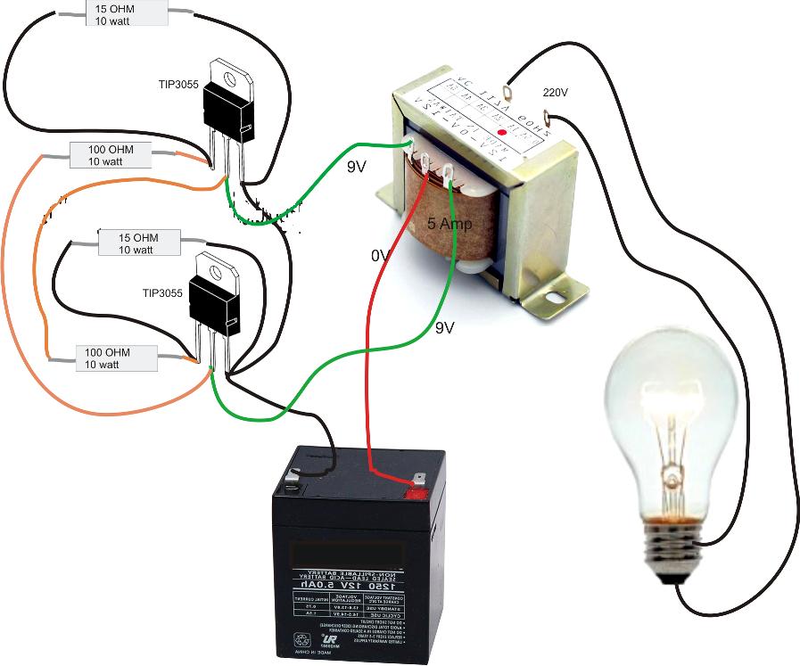 Simple Inverter Circuit Diagram  Electrical Blog