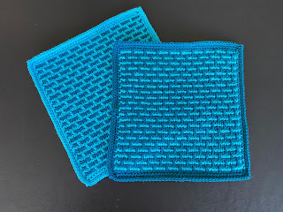 Brick stitch, Tunesisk hækling, Tunesian crochet, tutorial