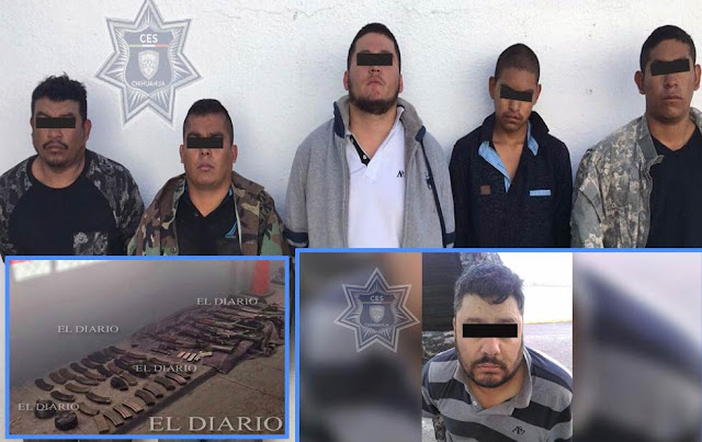 """Fotografía de """"El Tigre"""" detenido líder de Gente Nueva junto con 5 sicarios traía lanzagrandas y arsenal"""