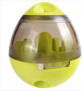 Pet Food Leakage Educational Molar Cat Dog Chew Toy - Tea Green