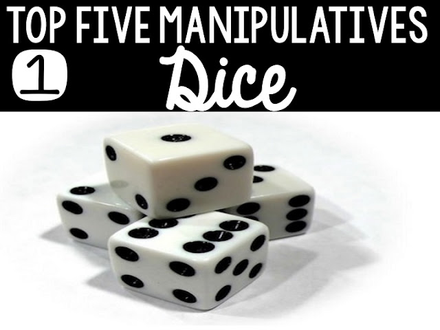 Top Five Math Manipulatives to Use Now:  Dice